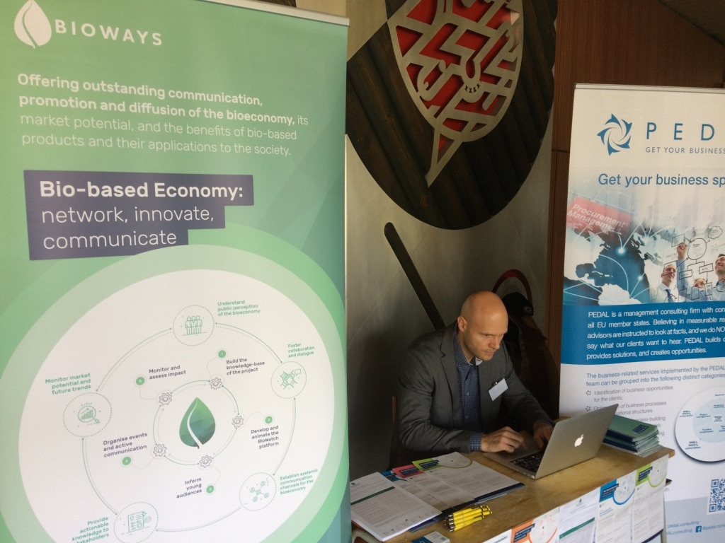 BIOWAYS exhibition Booth and presentation at H2020 Info day